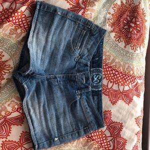 SO shortie blue jean shorts size 5